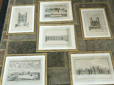 £200 • Buy A Set Of Six Framed Architectural Etchings - Antique