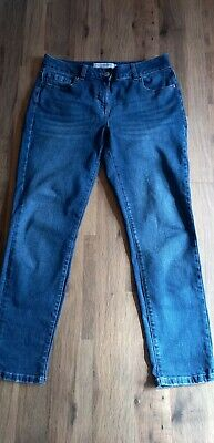 £22 • Buy Next Relaxed Skinny Jeans Petite Size 12 Mid Rise Blue Denim