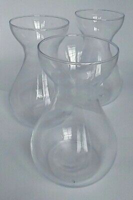 £9.99 • Buy Hyacinth Bulb Vases X 3 Clear Glass Classic Shape, New And Unused