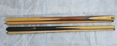 £25 • Buy 2x Pool/Snooker Cues 1xRiley 2 Piece And One Non Branded Snooker / Pool