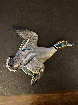 £350 • Buy RARE Mid Century Modern BESWICK TEAL FLYING DUCK WALL PLAQUE ORNAMENT 1530-1