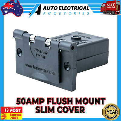 AU18.95 • Buy 50A Anderson Plug Flush Mount Slim Cover Assembly Weather Proof Black