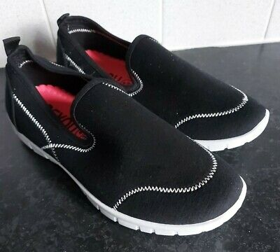 £6.99 • Buy Womens Trainers Wide Fit Walking Shoes Memory Foam Black Pumps Size 4 To 4.5 NEW