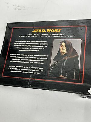 £74.99 • Buy CHROME SW-330 Star Wars Master Replicas .45 Lightsaber Darth Sidious Exclusive
