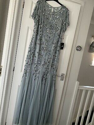 £69.99 • Buy Stunning Blue Floor Length Gown/evening Dress Christmas/wedding/occasion Size 20