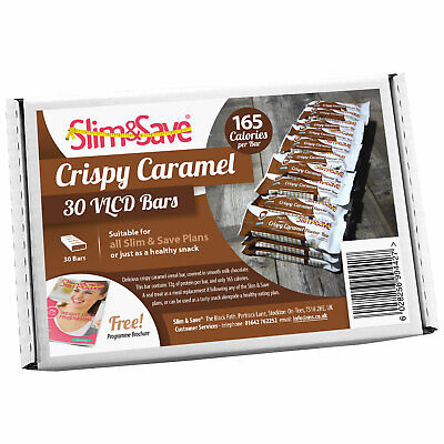 £33.99 • Buy 30 Crispy Caramel LowCarb HighProtein Meal Replacement VLCD Diet Bars Slim&Save