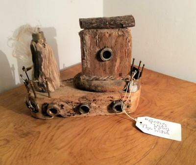 £50 • Buy Handmade Driftwood Boat Sculpture  Gone With The Wind  Ornament Unique Gift Sale