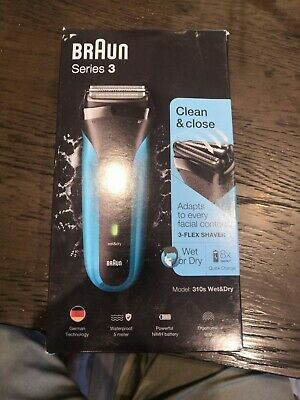 £13 • Buy Braun Series 3 310s Wet & Dry Cordless Electric Shaver For Men - Black/Blue A