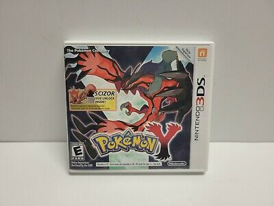$99.99 • Buy Pokemon Y (Nintendo 3DS, 2013) With Manual & Case TESTED Scizor Variant