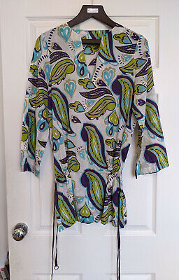 AU25.67 • Buy TED BAKER Kaftan Beach Cover Up Size 2 Pristine Condition Cotton