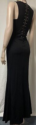 AU18.80 • Buy Unbranded But Good Quality Clothing Stretchy Jersey Long Maxi Dress Size 12/14
