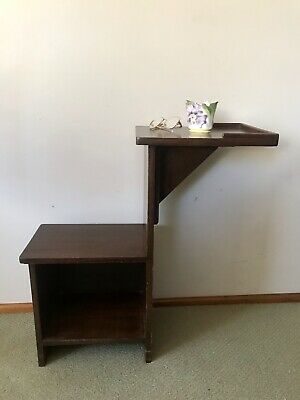 AU5 • Buy Antique VINTAGE TELEPHONE TABLE With SEAT Multipurpose Tall & Narrow Pickup 2122