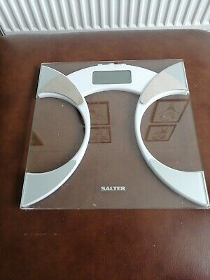 £0.99 • Buy Salter 9141 Wh3r Glass Body Fat Analyser Bathroom Scale