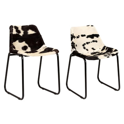 AU319.93 • Buy Dining Chairs 2 Pcs Genuine Goat Leather
