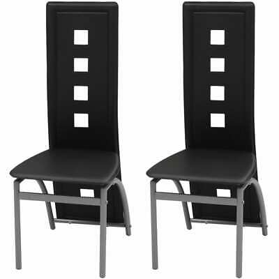 AU118.77 • Buy Dining Chairs 2 Pcs Black Faux Leather