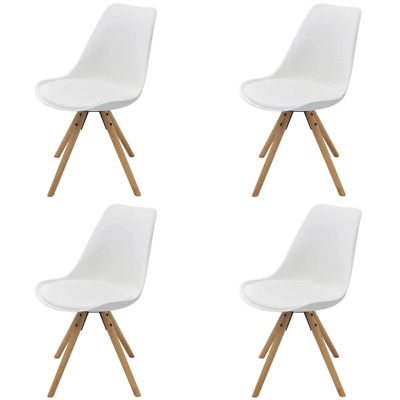 AU281.41 • Buy Dining Chairs 4 Pcs White Faux Leather