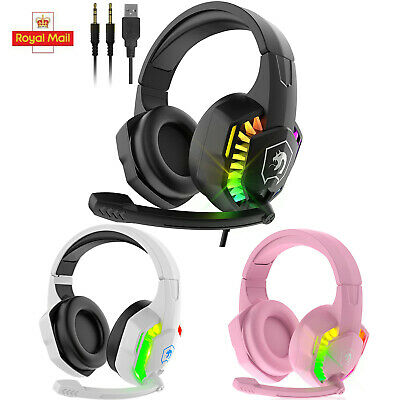 AU28.19 • Buy Gaming Headset 3D Wired RGB Mic Headphones For PC PS4 PS5 Laptop Nintendo Switch