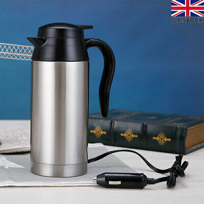 £20.49 • Buy 12v Portable Electric Kettle Car Van Travel Stainless Steel Water Heater Pot New