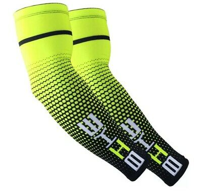 £4.49 • Buy Men Arm Sleeves Cover Basketball Cycling Sport UV Sun-Protect Cooling Cover L