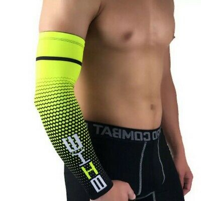 £5.49 • Buy Men Arm Sleeves Cover Basketball Cycling Sport UV Sun-Protect Cooling Cover L