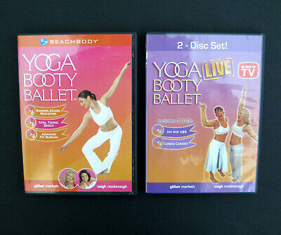 £7.29 • Buy YOGA BOOTY BALLET Lot Of 3 DVDs Beachbody ABS Fitness Weight Loss Workout Videos