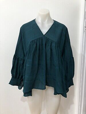 AU19.99 • Buy 🍏Finders Keepers Green Smock Top Size M 🐝