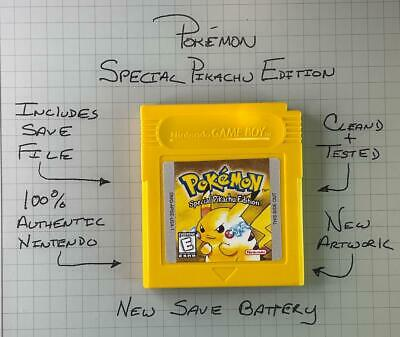 $35.99 • Buy Pokemon Yellow Version (Game Boy, 1999) Authentic *NEW BATTERY* W/ Save Game ...