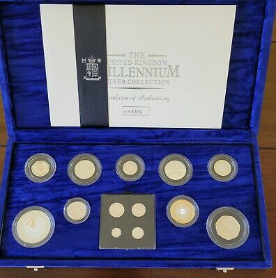£165 • Buy 2000 Millennium 13 Silver Coin Proof Collection With Maundy Set Excellent