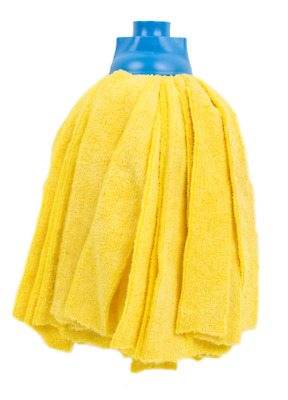 £6.95 • Buy Heavy Duty Floor Carpet Cotton Cleaning Mop Head Screw Type Yellow Colour Coded