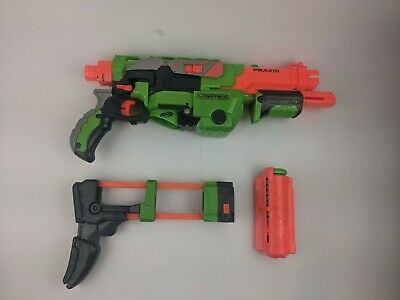 £21.82 • Buy Nerf Vortex Praxis Disc Launching Blaster Complete With Stock, Clip, & Discs!