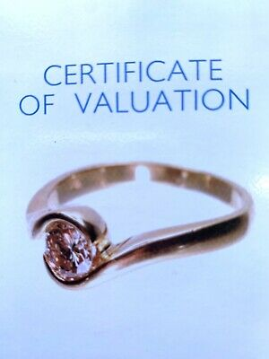 AU1195 • Buy Ladies 18ct Yellow Gold & Light Champagne Diamond Ring VALUATION $3,470