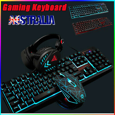 AU36.89 • Buy Gaming Keyboard Mechanical Keyboard And Wired Mouse Headset Three-Piece Set AU