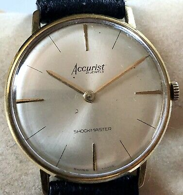 £29 • Buy Vintage Gold Plated Accurist 21J Shockmaster Manual Hand Wind Wristwatch Working