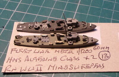 £4.99 • Buy HMS Algerine Class X 2 RN WWII Minesweepers, Scale 1/1200 1/1250 Ship Model
