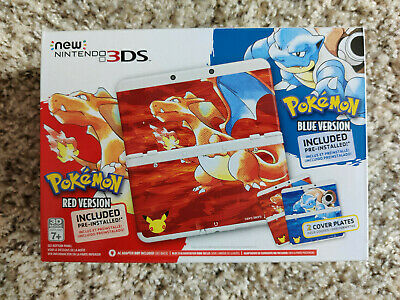 $1025 • Buy Brand New Nintendo 3DS Pokemon 20th Anniversary Red & Blue Edition Console USA