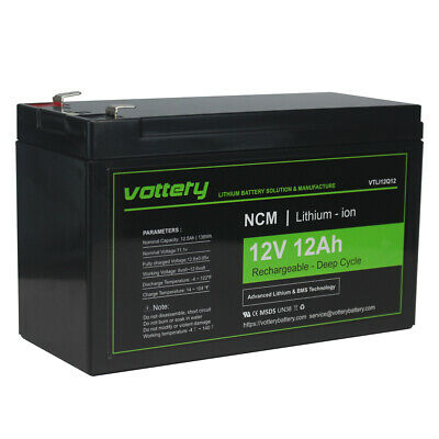 £59.99 • Buy 12Ah 12v Battery Spotlight Replacement LITHIUM LiNiMnCo NCM Battery Charger Kit
