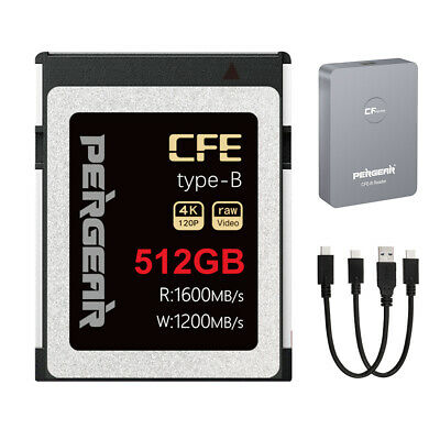 AU185 • Buy AU PERGEAR 128GB/256GB/512GB CFExpress Type-B Memory Card+Reader UP To 1600MB/s