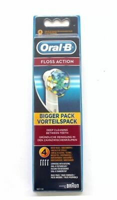 AU20.21 • Buy Braun Oral B Floss Action Replacement Tooth Brush 4 Or 8 Heads Genuine New