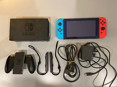 AU295 • Buy Nintendo Switch Game Console - Red Blue All Accessories