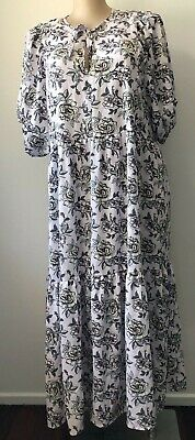 AU33.99 • Buy Feather And Noise Size 16 Floral Maxi NWT