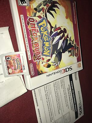 $39.85 • Buy Pokemon Omega Ruby (Nintendo 3DS, 2014) CIB / Complete - Authentic - Tested