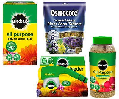 £10.49 • Buy Miracle-Gro All Purpose Plant Food Feed Beds Borders Tablets Compost Hose Feeder
