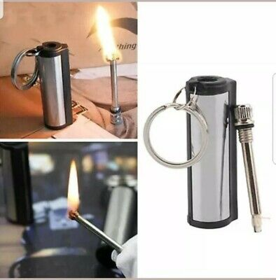 £4.39 • Buy ROUND PERMANENT MATCH BOX LIGHTER 🇬🇧 Seller Dispatched 48 Hours Free Postage