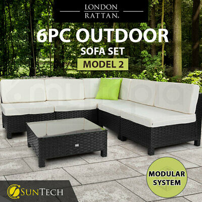 AU759 • Buy 【EXTRA10%OFF】 6pc Outdoor Patio Wicker Furniture Setting Sofa Set Lounge