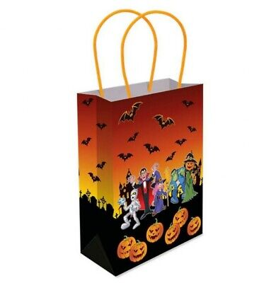 £2.99 • Buy Halloween Paper Bags Multipurpose Treat Bags For Cookies Candy Gifts Festive Bag