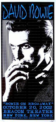 $568.75 • Buy David Bowie Concert Poster 2002 New York City