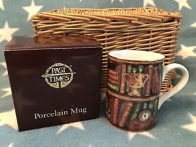 £10.95 • Buy NEW BOXED Edwardian Library Antique Book Lover Porcelain Mug Gift By Past Times