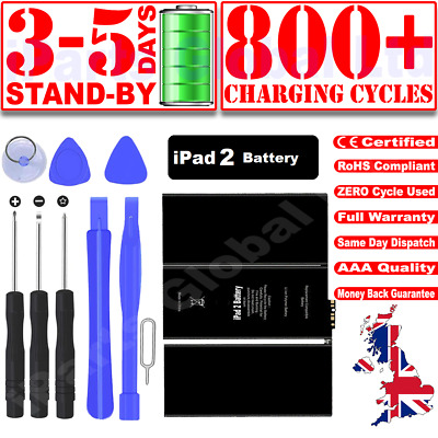 £9.99 • Buy 100% New IPad 2 Battery 6930mah Zero Cycle A1395/A1396/A1397 Replacement Battery
