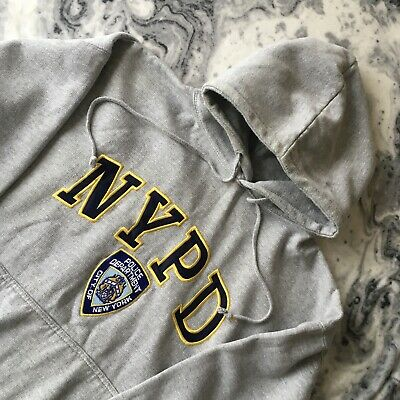 £19.99 • Buy NYPD Official 2006 New York Police Grey Heavy Embroidered Hoodie Hooded Top L