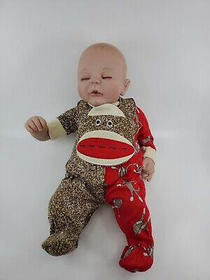 £54.28 • Buy Paradise Galleries  Sock Monkey Business  Reborn Baby Doll By Angela Anderson